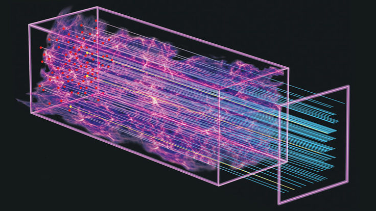 Illustration of quasars' view of early universe - BOSS SDSS-III