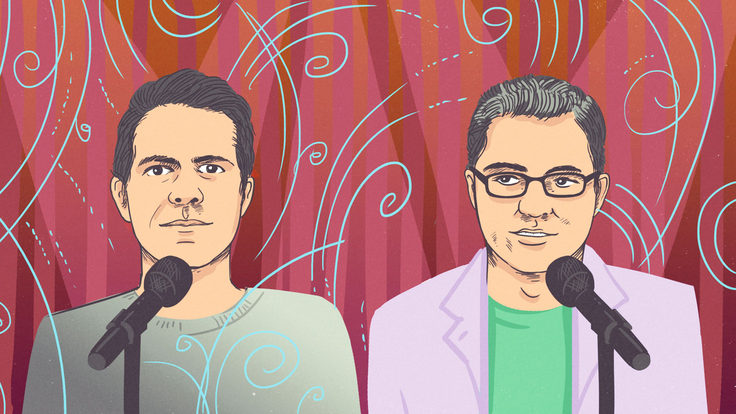 Illustration of Brian Wecht and Ben Lillie