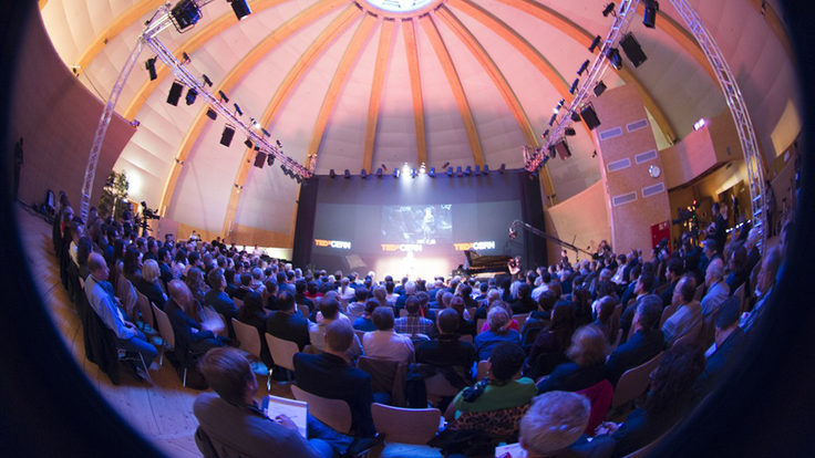 Photo of TEDxCERN fisheye