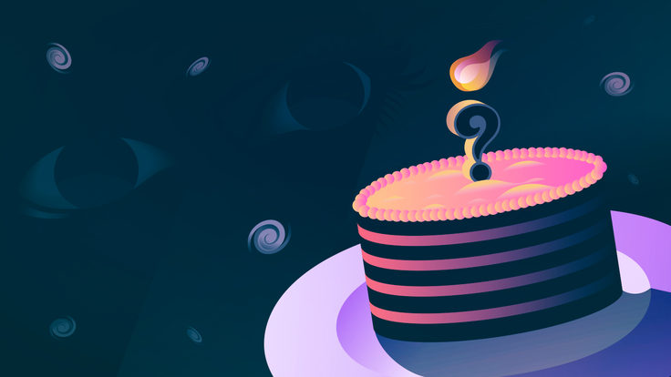 Illustration of universe cake