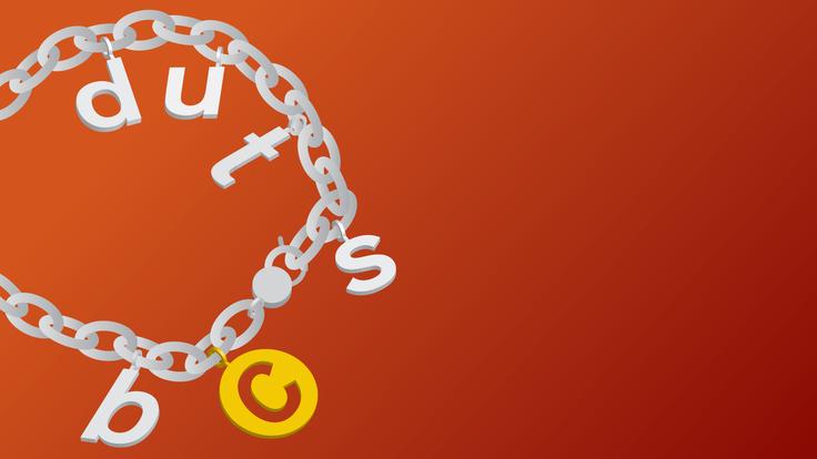 Illustration of a charm bracelet