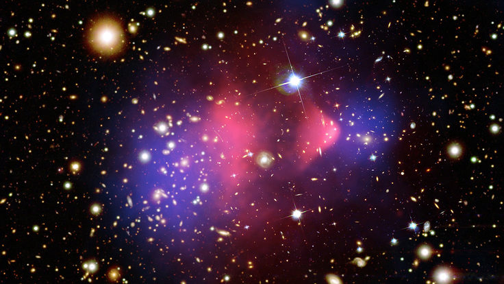 Photo of bullet cluster