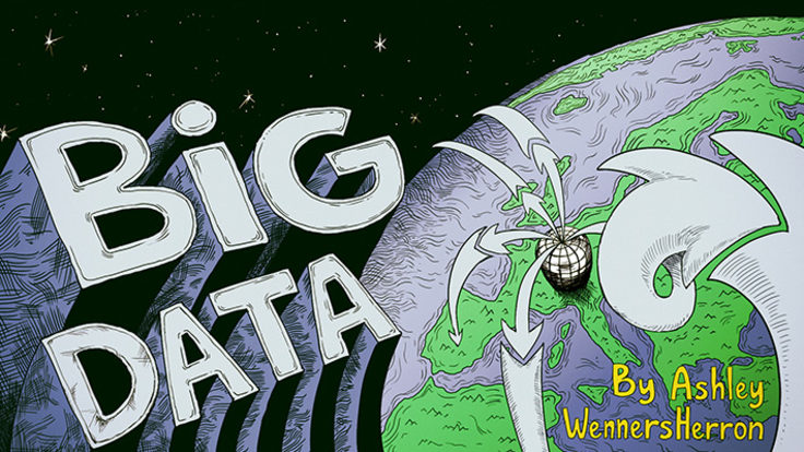 """Illustration of planet in space """"Big Data"""" written"""