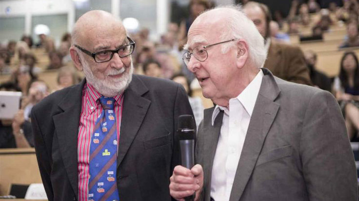 Photo of Higgs and Englert