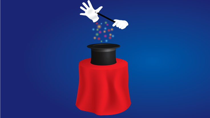 Illustration of an invisible magician