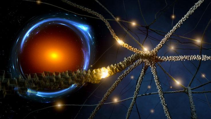 Neurons and Einstein ring