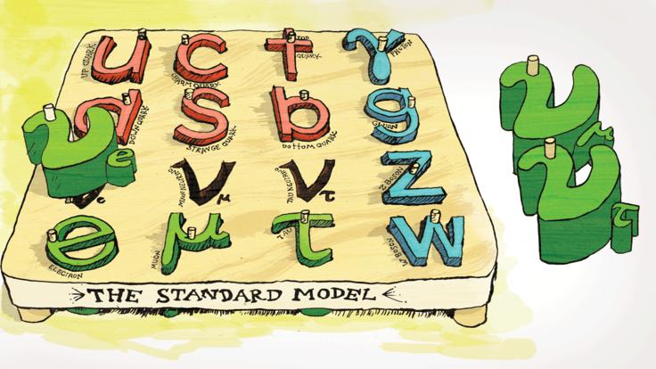 Illustration of Neutrinos, standard model misfits