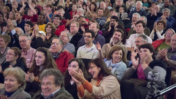 Photo: Physics slam crowd