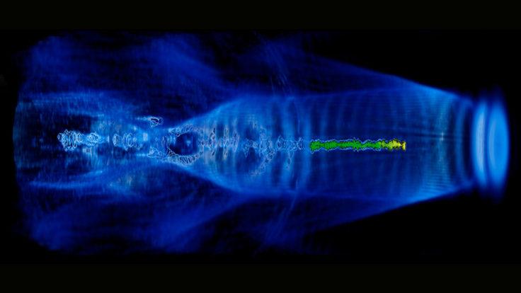 Plasma acceleration simulation