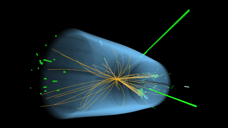 Visualization of a particle collision