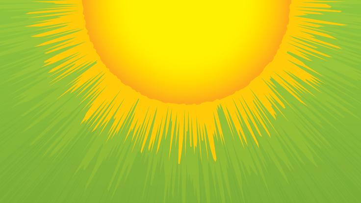 An illustration of the sun