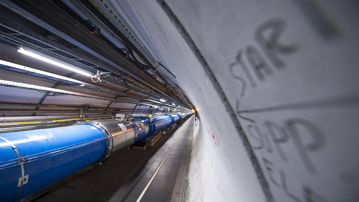 image: lhc - us scientists celebrate restart of the lhc