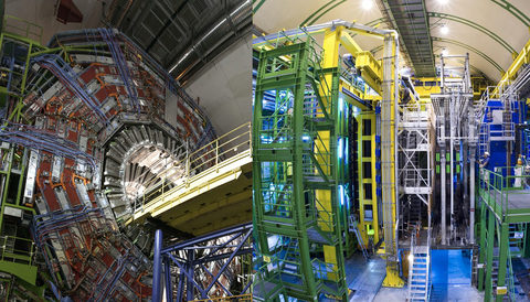 LHC experiments first to observe rare process