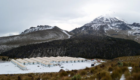 Scientists complete array on Mexican volcano