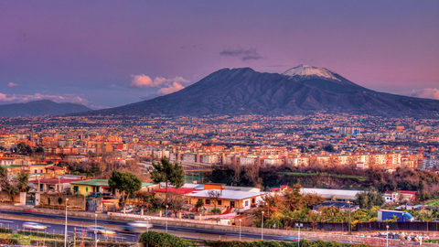 Muon versus the volcano